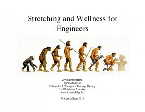 Stretching and Wellness for Engineers