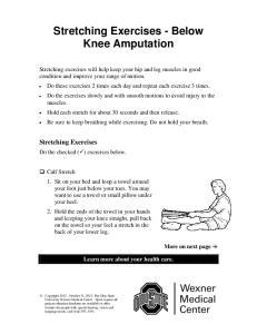 Stretching Exercises - Below Knee Amputation