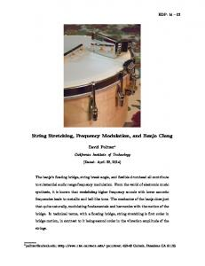 String Stretching, Frequency Modulation, and Banjo Clang