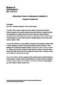 string theory: focus on contemporary Australian art