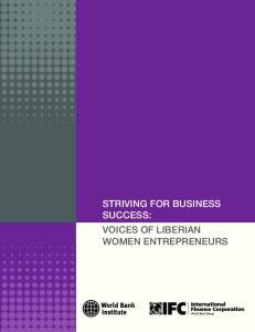 STRIVING FOR BUSINESS SUCCESS: VOICES OF LIBERIAN WOMEN ENTREPRENEURS