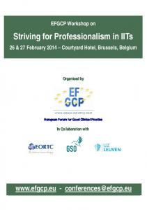 Striving for Professionalism in IITs