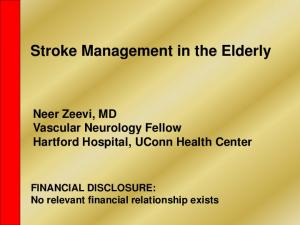 Stroke Management in the Elderly