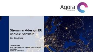 Strommarktdesign EU und die Schweiz