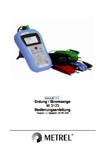 Stromzange MI 3123 Bedienungsanleitung Version 1.1, Bestellnr