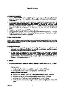 strona 1 Regulamin Konkursu