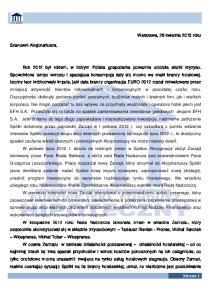 Strona 1. Warszawa, 26 kwietnia 2013 roku. Szanowni Akcjonariusze,