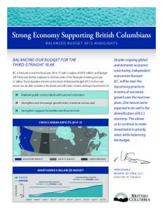 Strong Economy Supporting British Columbians