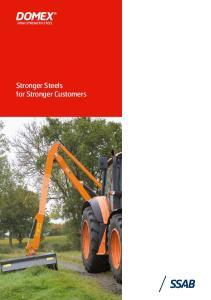 Stronger Steels for Stronger Customers