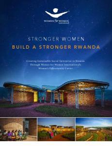 STRONGER WOMEN BUILD A STRONGER RWANDA