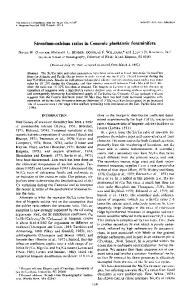 Strontium-calcium ratios in Cenozoic planktonic foraminifera