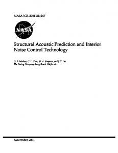 Structural Acoustic Prediction and Interior Noise Control Technology