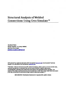 Structural Analysis of Welded Connections Using Creo Simulate