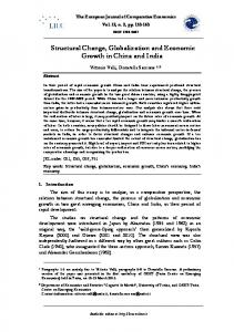 Structural Change, Globalization and Economic Growth in China and India
