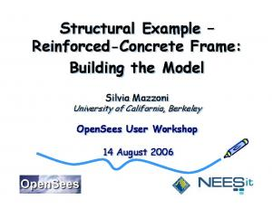 Structural Example Reinforced-Concrete Frame: Building the Model