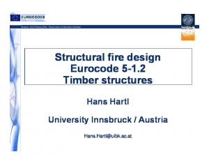 Structural fire design Eurocode Timber structures