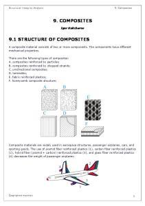 Structural Integrity Analysis 9. COMPOSITES. Igor Kokcharov