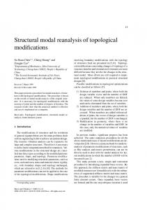 Structural modal reanalysis of topological modifications