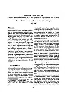 Structural Optimization Tool using Genetic Algorithms and Ansys