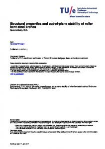 Structural properties and out-of-plane stability of roller bent steel arches Spoorenberg, R.C