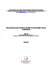 Structural Sources of Return and Risk in Commodity Futures Investments