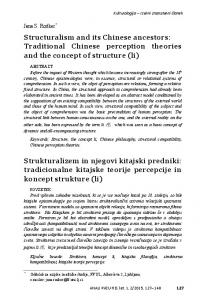Structuralism and its Chinese ancestors: Traditional Chinese perception theories and the concept of structure (li)