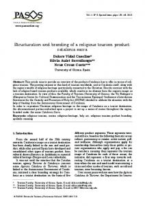 Structuration and branding of a religious tourism product: catalonia sacra