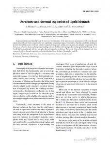 Structure and thermal expansion of liquid bismuth