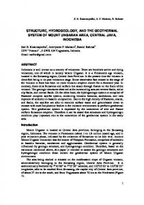 STRUCTURE, HYDROGEOLOGY, AND THE GEOTHERMAL SYSTEM OF MOUNT UNGARAN AREA, CENTRAL JAVA, INDONESIA