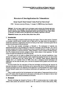 Structure of Java Applications for Telemedicine