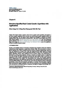 Structure-Specified Real Coded Genetic Algorithms with Applications