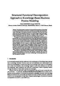 Structured Functional Decomposition Approach to Knowledge-Based Business Process Modeling