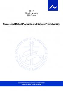 Structured Retail Products and Return Predictability