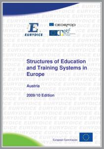Structures of Education and Training Systems in Europe