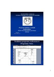 Struktura programu wykonana w Programie Visio
