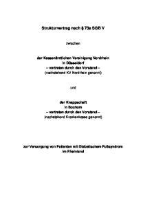 Strukturvertrag nach 73a SGB V