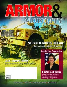 STRYKER MOVES AHEAD JLTV COMPETITION. HON Heidi Shyu. Comms and Lethality Upgrades. Leadership Perspective