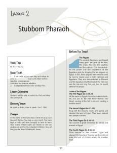 Stubborn Pharaoh. Lesson 2. Ex 5:1 12:42