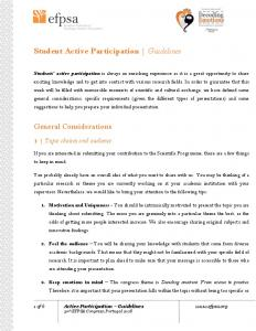 Student Active Participation Guidelines