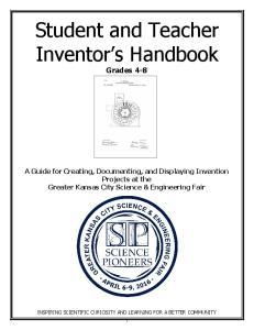Student and Teacher Inventor s Handbook