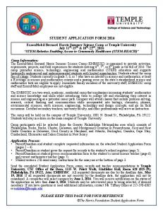 STUDENT APPLICATION FORM 2016