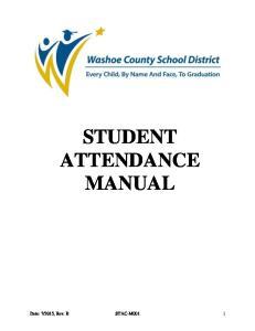 STUDENT ATTENDANCE MANUAL