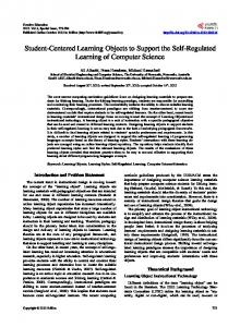 Student-Centered Learning Objects to Support the Self-Regulated Learning of Computer Science