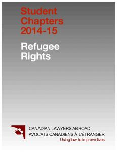 Student Chapters Refugee Rights