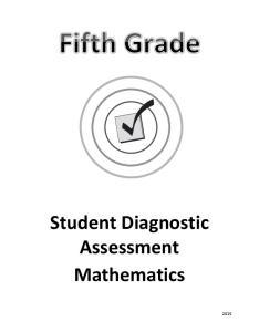 Student Diagnostic Assessment Mathematics