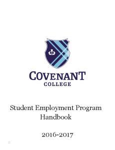 Student Employment Program Handbook