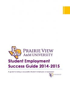 Student Employment Success Guide