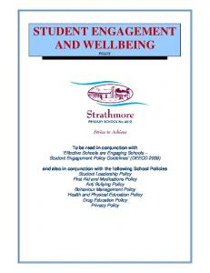 STUDENT ENGAGEMENT AND WELLBEING