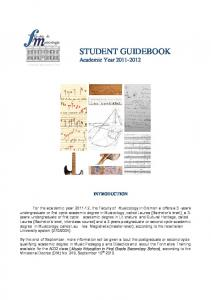 STUDENT GUIDEBOOK Academic Year