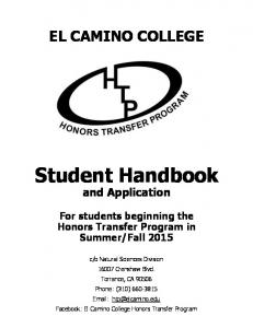 Student Handbook and Application